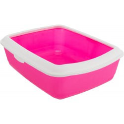 Classic kattenbak pink/wit